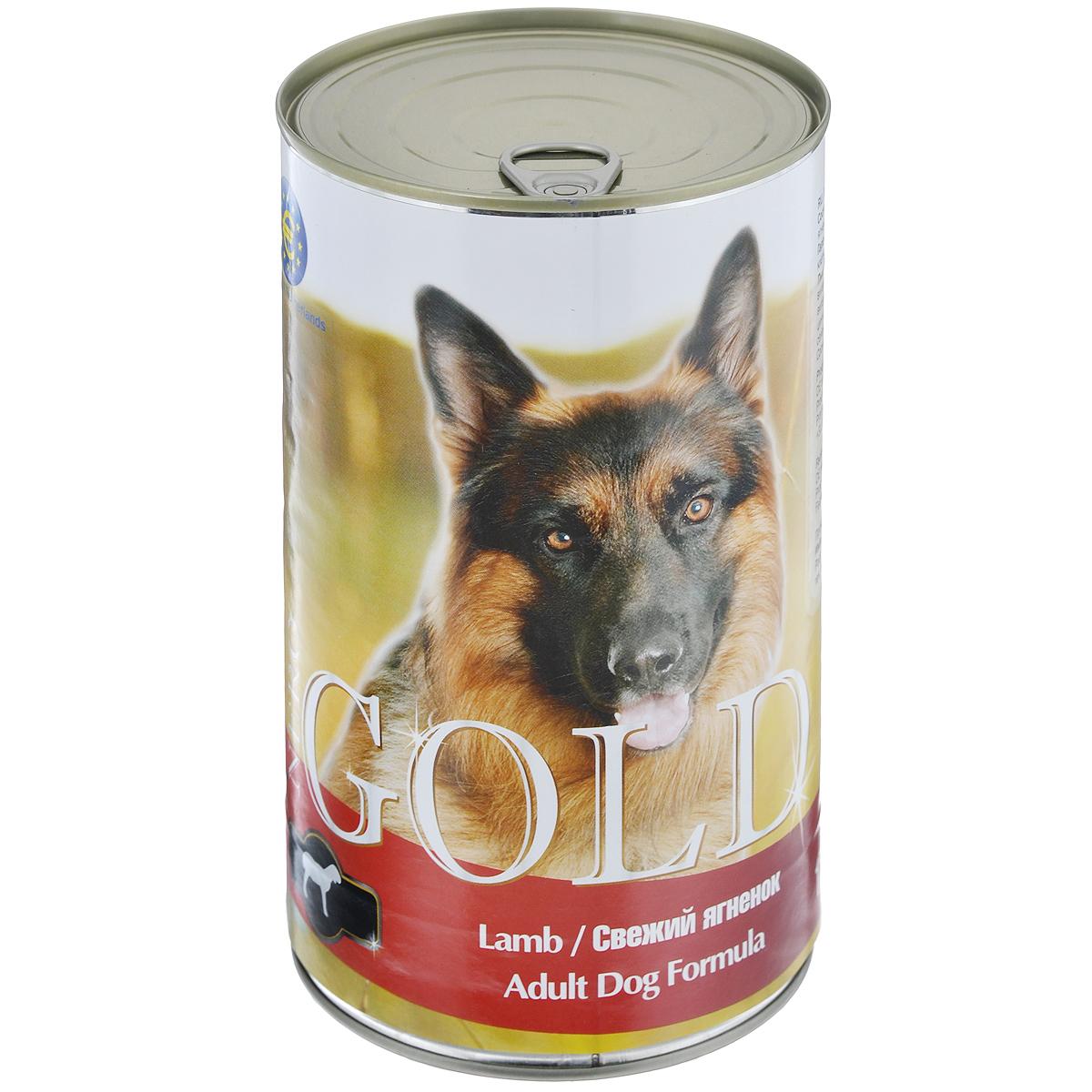 Консервы для собак Nero Gold, свежий ягненок, 1250 г0120710Консервы для собак Nero Gold - полнорационный продукт, содержащий все необходимые витамины и минералы, сбалансированный для поддержания оптимального здоровья вашего питомца! Состав: мясо и его производные, филе курицы, филе ягненка, злаки, витамины и минералы. Гарантированный анализ: белки 6,5%, жиры 4,5%, клетчатка 0,5%, зола 2%, влага 81%. Пищевые добавки на 1 кг продукта: витамин А 1600 МЕ, витамин D 140 МЕ, витамин Е 10 МЕ, железо 24 мг, марганец 6 мг, цинк 15 мг, медь 1 мг, магний 200 мг, йод 0,3 мг, селен 0,2 мг.Вес: 1250 г. Товар сертифицирован.