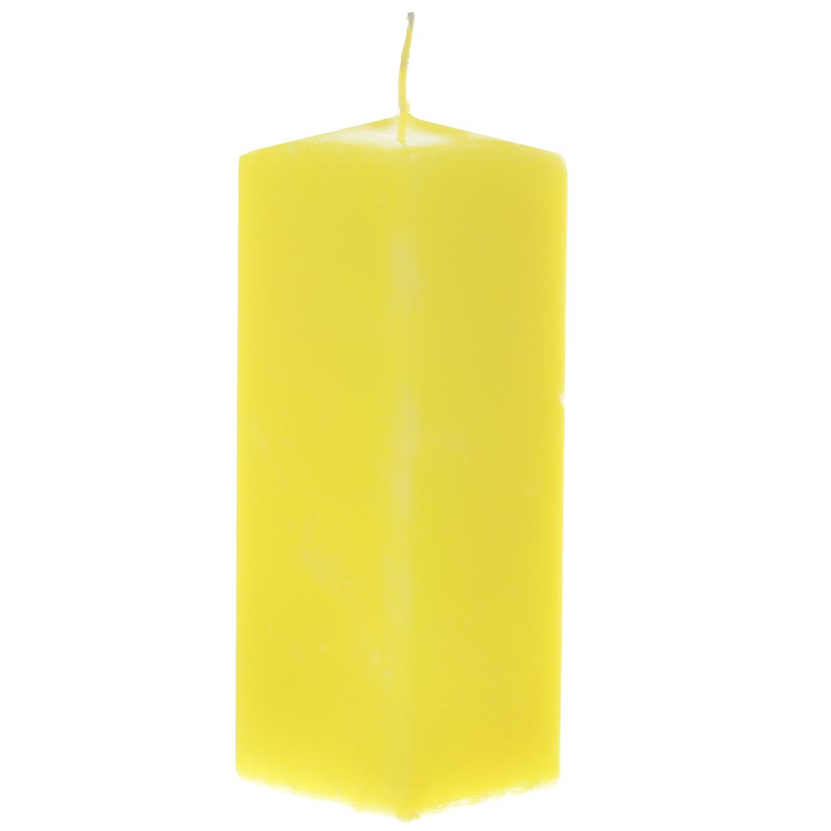 Свеча Sima-land Аромат огня, цвет: желтый, высота 15 см. 19761816050Свеча Sima-land Аромат огня выполнена из парафина в классическом стиле.Изделие порадует вас ярким дизайном. Такую свечу можно поставить в любое местои она станет ярким украшением интерьера. Свеча Sima-land Аромат огня создаст незабываемую атмосферу,будь то торжество, романтический вечер или будничный день.