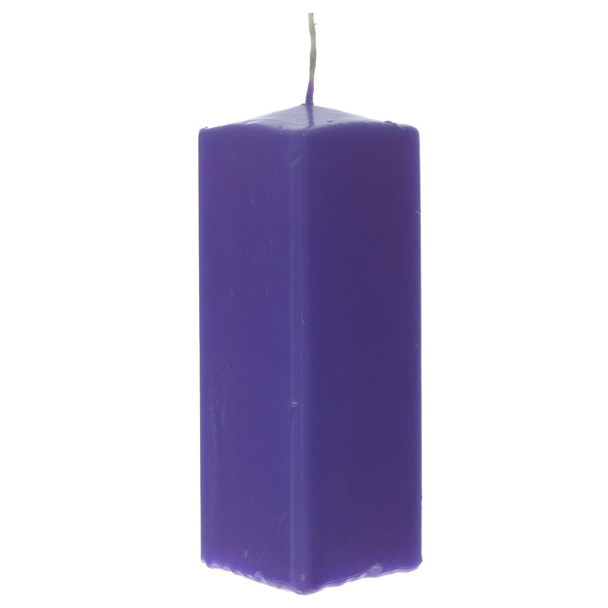 Свеча Sima-land Аромат огня, цвет: фиолетовый, высота 15 см. 843211ES-412Свеча Sima-land Аромат огня выполнена из парафина в классическом стиле.Изделие порадует вас ярким дизайном. Такую свечу можно поставить в любое местои она станет ярким украшением интерьера. Свеча Sima-land Аромат огня создаст незабываемую атмосферу,будь то торжество, романтический вечер или будничный день.