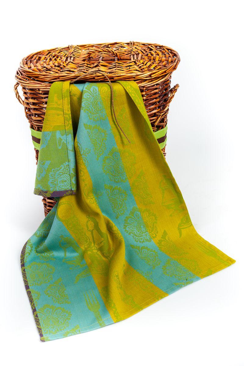 Полотенце для кухни Arloni Классик, цвет: желто-зеленый, голубой, 45 х 70 смVT-1520(SR)Жаккардовое полотенце для кухни Arloni Классик изготовлено из 100% хлопка и украшено красивым изысканным орнаментом в классическом стиле. Изделие выполнено из натурального материала, поэтому является экологически чистым. Высочайшее качество материала гарантирует безопасность не только взрослых, но и самых маленьких членов семьи. Полотенце хорошо впитывает влагу, приятно на ощупь, имеет современный стильный дизайн, который подойдет под любой интерьер.