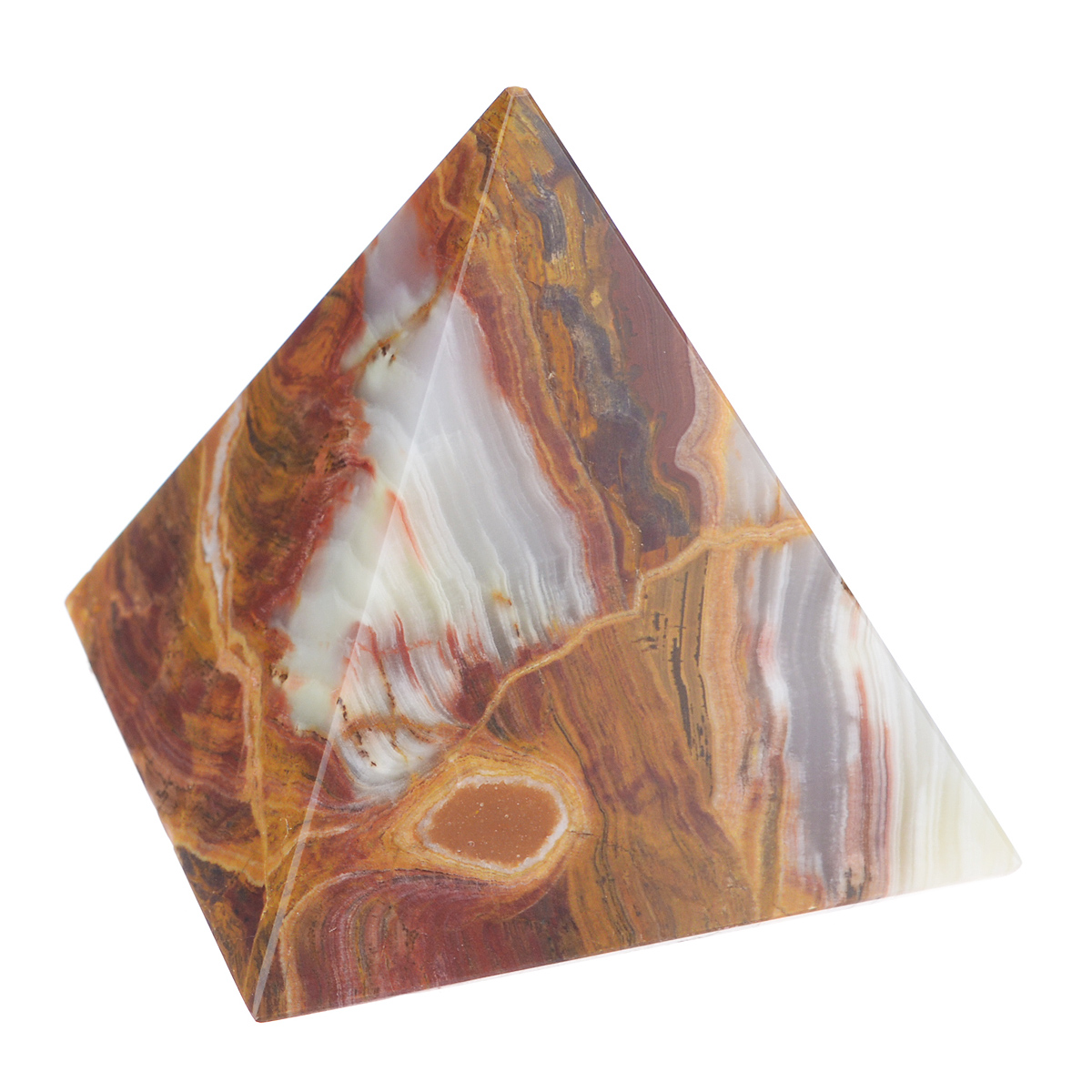 Сувенир Sima-land Пирамида, 7,5 см х 7,5 см х 8 см888761Сувенир Sima-land Пирамида выполнен из натурального оникса. Этот камень помогает снимать стрессы, облегчает боль, способствует эмоциональному равновесию и самоконтролю. Его применяют при расстройстве нервной системы, депрессиях, бессоннице, при лечении болезней сердца. Оникс хорошо снимает боли и уменьшает воспаления. Сувенир Sima-land Пирамида станет отличным подарком на любой праздник и дополнит интерьер вашей комнаты. УВАЖАЕМЫЕ КЛИЕНТЫ!Обращаем ваше внимание на тот факт, что цветовой оттенок товара может отличатся от представленного на изображении, поскольку фигурка выполнена из натурального камня. Учитывайте это при оформлении заказа.