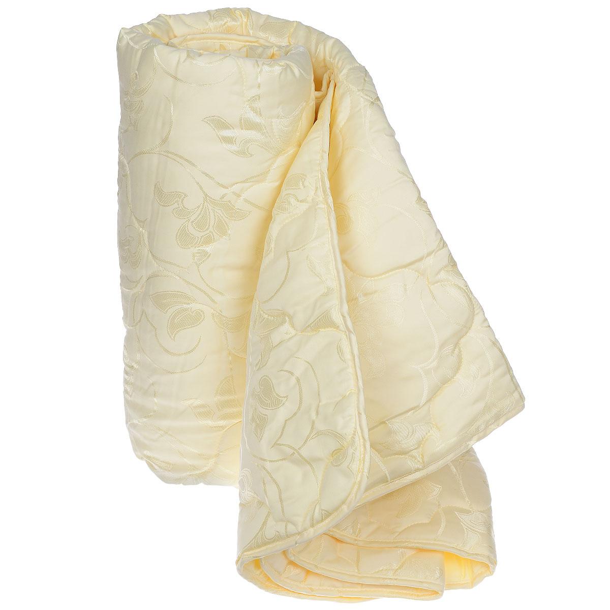 Одеяло Sova & Javoronok, наполнитель: шелковое волокно, цвет: бежевый, 140 см х 205 см531-103Чехол одеяла Sova & Javoronok выполнен из благородного сатина бежевого цвета. Наполнитель - натуральное шелковое волокно.Особенности наполнителя: - обладает высокими сорбционными свойствами, создавая эффект сухого тепла; - регулирует температурный режим; - не вызывает аллергических реакций. Шелк всегда считался одним из самых элитных и роскошных материалов. Очень нежный, легкий, шелк отлично приспосабливается к температуре тела и окружающей среды. Летом с подушкой из шелка вы чувствуете прохладу, зимой - приятное тепло. В натуральном шелке не заводится и не живет пылевой клещ, также шелк обладает бактериостатическими свойствами (в нем не размножаются патогенные бактерии), в нем не живут и не размножаются грибки и сапрофиты. Натуральный шелк гипоаллергенен и рекомендован людям с аллергическими реакциями. При впитывании шелком влаги до 30% от собственного веса он остается сухим на ощупь. Натуральный шелк не электризуется. Одеяло Sova & Javoronok упакована в тканно-пластиковый чехол на змейке с ручками, что является чрезвычайно удобным при переноске.Рекомендации по уходу:- Стирка запрещена,- Нельзя отбеливать. При стирке не использовать средства, содержащие отбеливатели (хлор),- Не гладить. Не применять обработку паром,- Химчистка с использованием углеводорода, хлорного этилена,- Нельзя выжимать и сушить в стиральной машине. Размер одеяла: 140 см х 205 см.Материал чехла: сатин (100% хлопок). Материал наполнителя: шелковое волокно.
