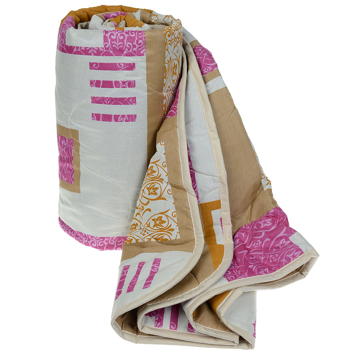 Одеяло всесезонное OL-Tex Miotex, наполнитель: полиэфирное волокно Holfiteks, цвет: бежевый, малиновый, 172 см х 205 см531-105Всесезонное одеяло OL-Tex Цветочные узоры создаст комфорт и уют во время сна. Стеганый чехол выполнен из полиэстера и оформлен красивым рисунком. Внутри - наполнитель из полиэфирного высокосиликонизированного волокна Holfiteks, упругий и качественный. Холфитекс - современный экологически чистый синтетический материал, изготовленный по новейшим технологиям. Его уникальность заключается в расположении волокон, которые позволяют моментально восстанавливать форму и сохранять ее долгое время. Изделия с использованием Холфитекса очень удобны в эксплуатации - их можно часто стирать без потери потребительских свойств, они быстро высыхают, не впитывают запахов и совершенно гиппоаллергенны. Холфитекс также обеспечивает хорошую терморегуляцию, поэтому изделия с наполнителем из холфитекса очень комфортны в использовании. Одеяло с наполнителем Холфитекс порадует вас в любое время года. Оно комфортно согревает и создает отличный микроклимат. За одеялом легко ухаживать, можно стирать в стиральной машинке.Рекомендации по уходу:- Ручная и машинная стирка при температуре 30°С.- Не гладить.- Не отбеливать. - Нельзя отжимать и сушить в стиральной машине.- Сушить вертикально. Размер одеяла: 172 см х 205 см. Материал чехла: 100% полиэстер. Материал наполнителя: полиэфирное высокосиликонизированное волокно Holfiteks. Плотность: 300 г/м2.