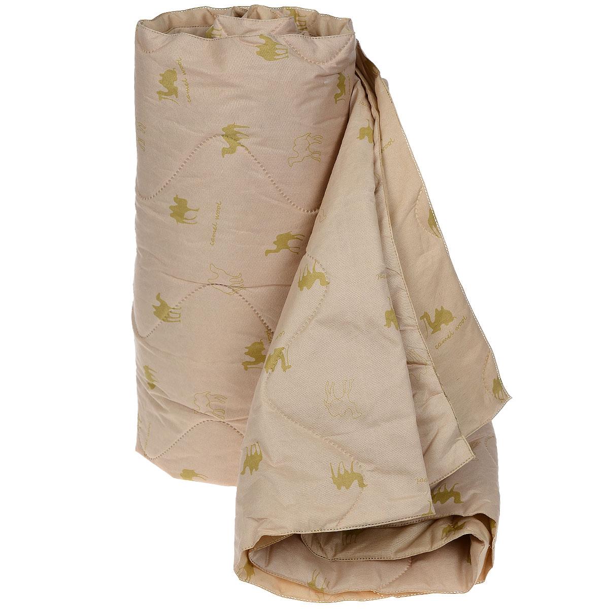 Одеяло Подушкино Верблюжье, наполнитель: шерсть, вискоза, 172 х 205 см531-103Одеяло Подушкино Верблюжье порадует вас своим теплом и качеством!Чехол одеяла изготовлен из инновационного материала - биософт с фигурной безниточной стежкой, наполнитель - 40% верблюжья шерсть и 60% вискоза.Биософт - ткань из полиэстеровой нити с плотной и шелковистой на ощупь структурой. Легко стирается, не деформируется, не садится, быстро сохнет и сохраняет цвет на долгое время. Изделия из этой ткани очень легкие. Верблюжья шерсть давно оценена потребителями за исключительные достоинства, присущие только ей: - оздоравливающие свойства - благодаря содержанию ланолина нейтрализует токсины, улучшает микроциркуляцию кожи, расширяет сосуды, усиливает обмен веществ и помогает избавиться от ревматических болей; - воздухопроницаемость - полая структура волоса позволяет воздуху свободно циркулировать внутри изделий; - гипоаллергенность. Размер одеяла: 172 см х 205 см.