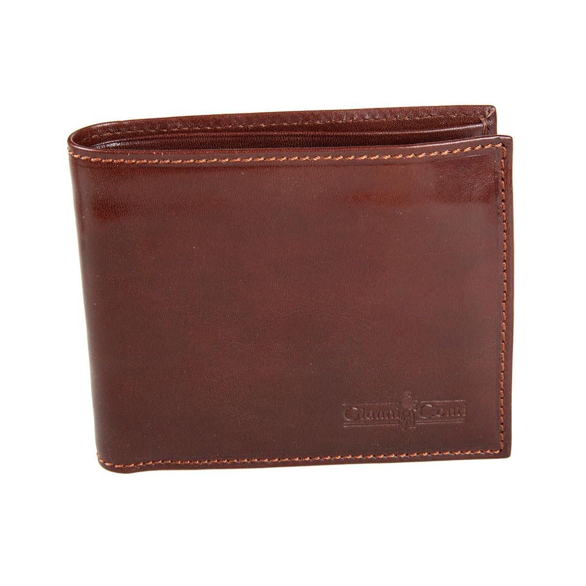 Портмоне мужское Gianni Conti, цвет: коричневый. 907023W16-11128_323Стильное мужское портмоне Gianni Conti выполнено из натуральной кожи. Лицевая сторона оформлена тиснением в виде названия бренда производителя.Изделие раскладывается пополам. Внутри имеется два отделения для купюр, четыре потайных кармана, карман для мелочи на кнопке, семь кармашков для визиток и пластиковых карт и сетчатый карман. Портмоне упаковано в фирменную картонную коробку. Оригинальное портмоне подчеркнет вашу индивидуальность и изысканный вкус, а также станет замечательным подарком человеку, ценящему качественные и практичные вещи.