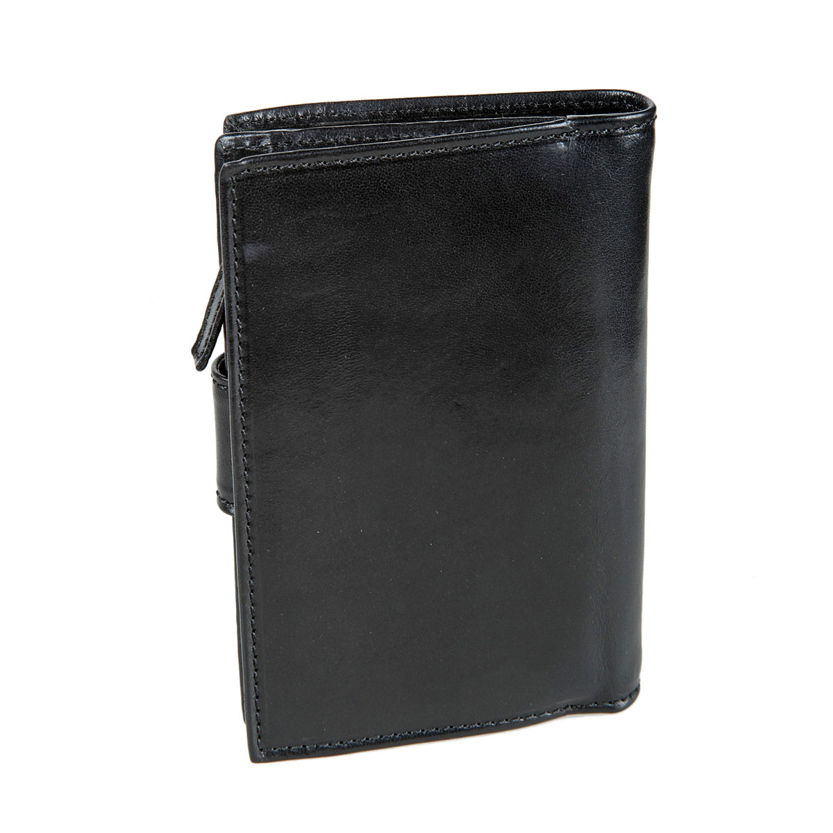 Портмоне мужское Gianni Conti, цвет: черный. 908046BM8434-58AEСтильное мужское портмоне Gianni Conti выполнено из натуральной кожи. Лицевая сторона оформлена тиснением в виде названия бренда производителя.Изделие раскладывается пополам. Внутри имеется два отделения для купюр, восемнадцать кармашков для визиток и пластиковых карт (один - с окошком из прозрачного пластика), два потайных кармана и два кармана для документов. Закрывается модель на хлястик с кнопкой. Снаружи на задней стенке имеется отделение на застежке-молнии для мелочи. Портмоне упаковано в фирменную картонную коробку. Оригинальное портмоне подчеркнет вашу индивидуальность и изысканный вкус, а также станет замечательным подарком человеку, ценящему качественные и практичные вещи.