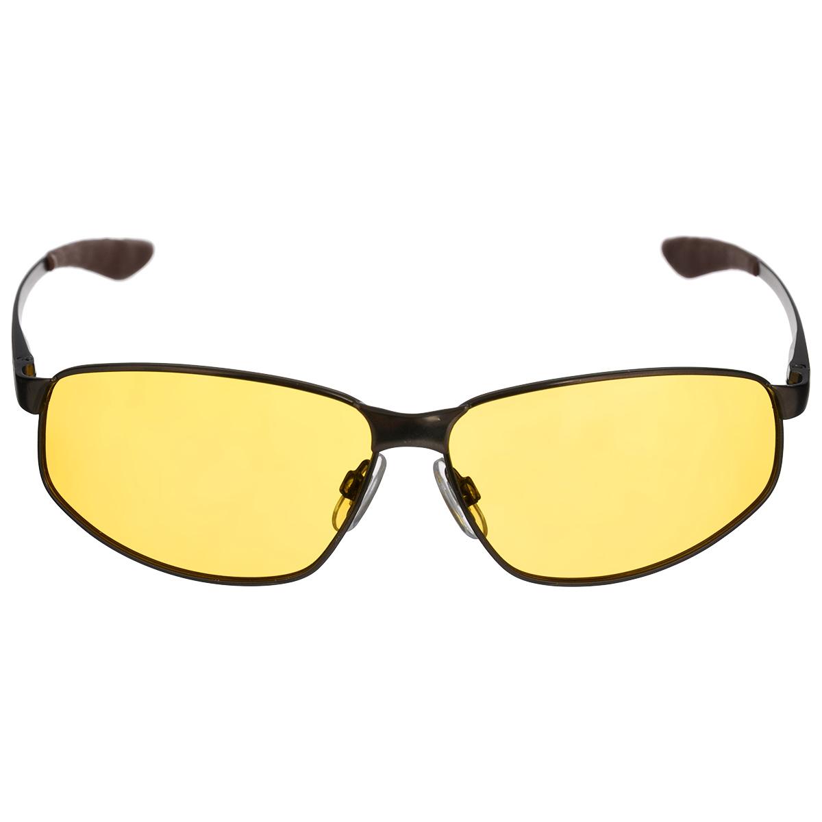 Очки мужские, поляризационные Cafa France, цвет: желтый. CF3108YBM8434-58AEОчки поляризационные Cafa France предназначены для защиты органов зрения от ультрафиолета,а также блокировки бликов. Оправа изготовлена из гибкого пластика, который не бьется и не подвергается остаточным деформациям. Оправа разработана для комфортного и безопасного вождения - легкая, надежная, не закрывающая обзор в зоне периферийного зрения. Прорезиненные элементы на дужках и надежные узлы крепления предотвращают соскальзывание.Категория затемнения линз - Cat.1.Практичный аксессуар не только защитит ваши глаза, но и ярко подчеркнет ваш стиль.
