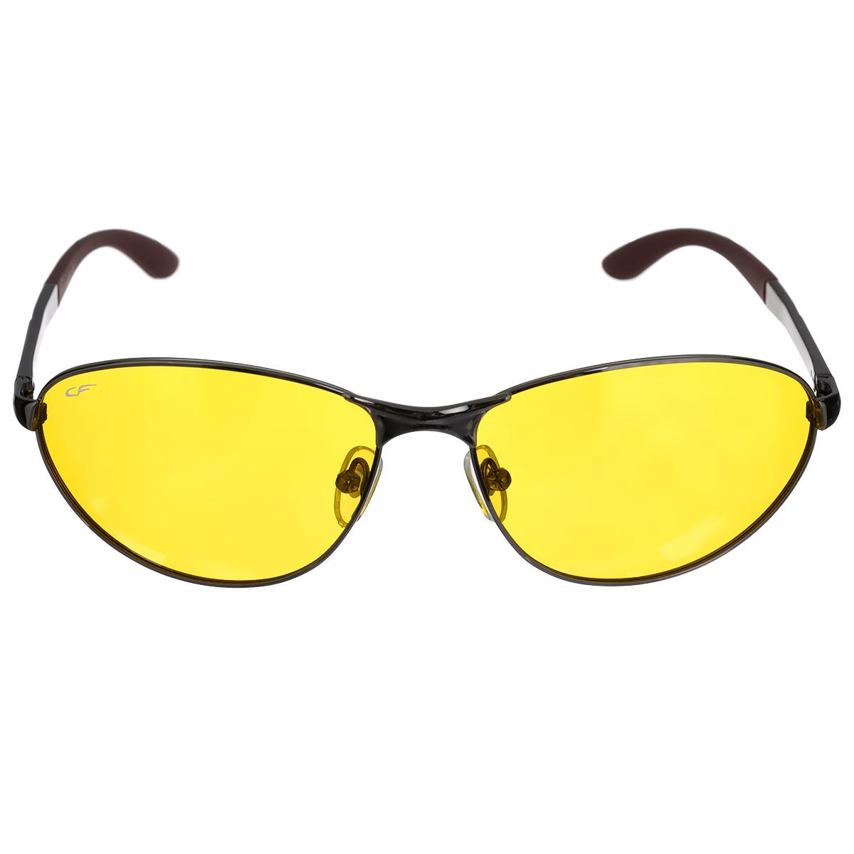 Очки поляризационные Cafa France, цвет: желтый. CF8199YBM8434-58AEОчки поляризационные Cafa France предназначены для защиты органов зрения от ультрафиолета,а также блокировки бликов. Оправа изготовлена из гибкого пластика, который не бьется и не подвергается остаточным деформациям. Оправа разработана для комфортного и безопасного вождения - легкая, надежная, не закрывающая обзор в зоне периферийного зрения. Прорезиненные элементы на дужках и надежные узлы крепления предотвращают соскальзывание.Категория затемнения линз - Cat.1.Практичный аксессуар не только защитит ваши глаза, но и ярко подчеркнет ваш стиль.