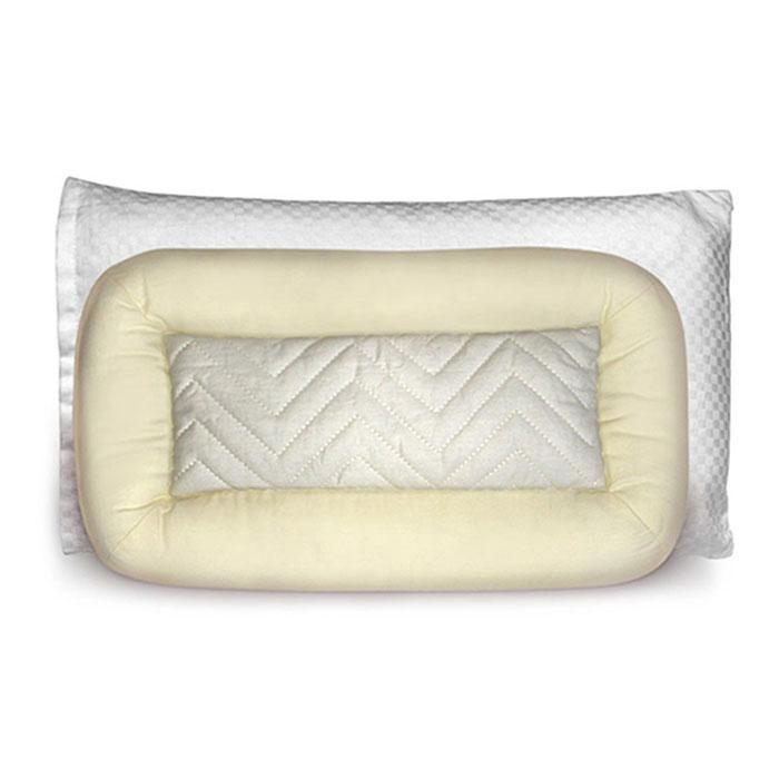 """Детская подушка """"Baby Nice"""" прекрасно подойдет для самых маленьких. Чехол подушки выполнен из хлопка бежевого цвета и оформлен фигурной стежкой, которая надежно удерживает наполнители внутри, не позволяет им смешиваться и рассыпаться. В качестве наполнителя используется 100% натуральная цельная очищенная лузга гречихи. Мягкий полиэстеровый наполнитель по краю подушки обеспечивает мягкость и уют. Подушки с гречневой лузгой - самые натуральные ортопедические подушки: они высококачественные, """"дышащие"""", экологичные для ребенка. Для подушки предусмотрена тканая хлопковая наволочка, обработанная паром. Подушка с гречихой обеспечит ребенку здоровый крепкий сон, благодаря ароматерапии и легкому массажному эффекту. Подушки рекомендованы для отдыха ребенка в кроватке и во время прогулки в коляске. Размер подушки: 22 см х 40 см. Материал наполнителя: гречневая лузга, полиэстер. Материал чехла: 100% хлопок."""