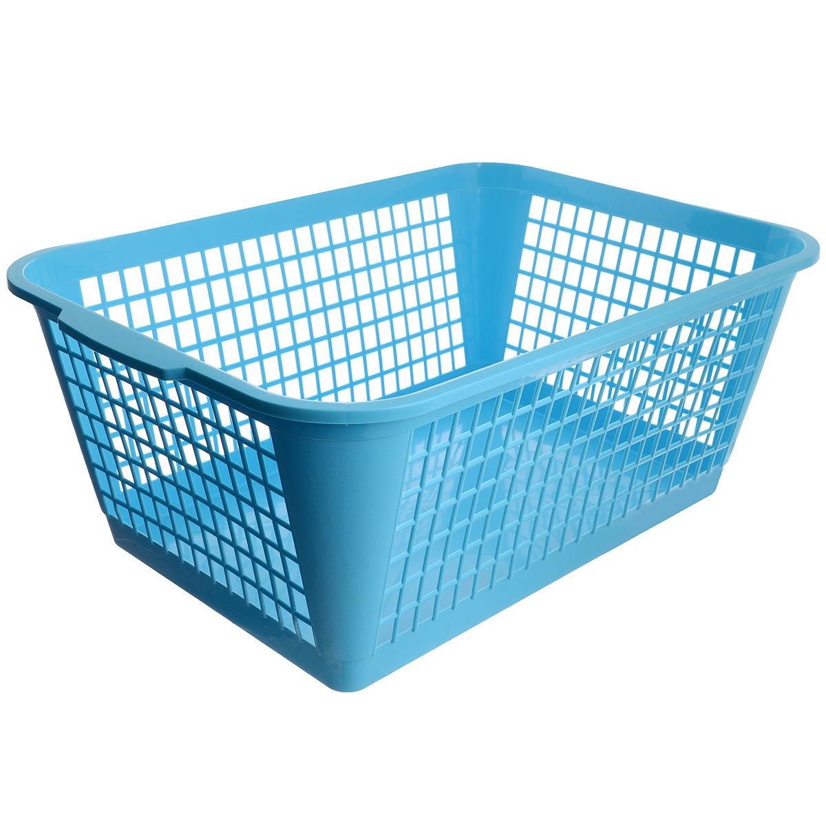 Корзина Gensini, цвет: голубой, 50 лRG-D31SУниверсальная корзина Gensini, выполненная из полипропилена, предназначена для хранения мелочей в ванной, на кухне, даче или гараже. Позволяет хранить мелкие вещи, исключая возможность их потери. Легкая воздушная корзина с жесткой кромкой, с узором из отверстий в форме прямоугольников.