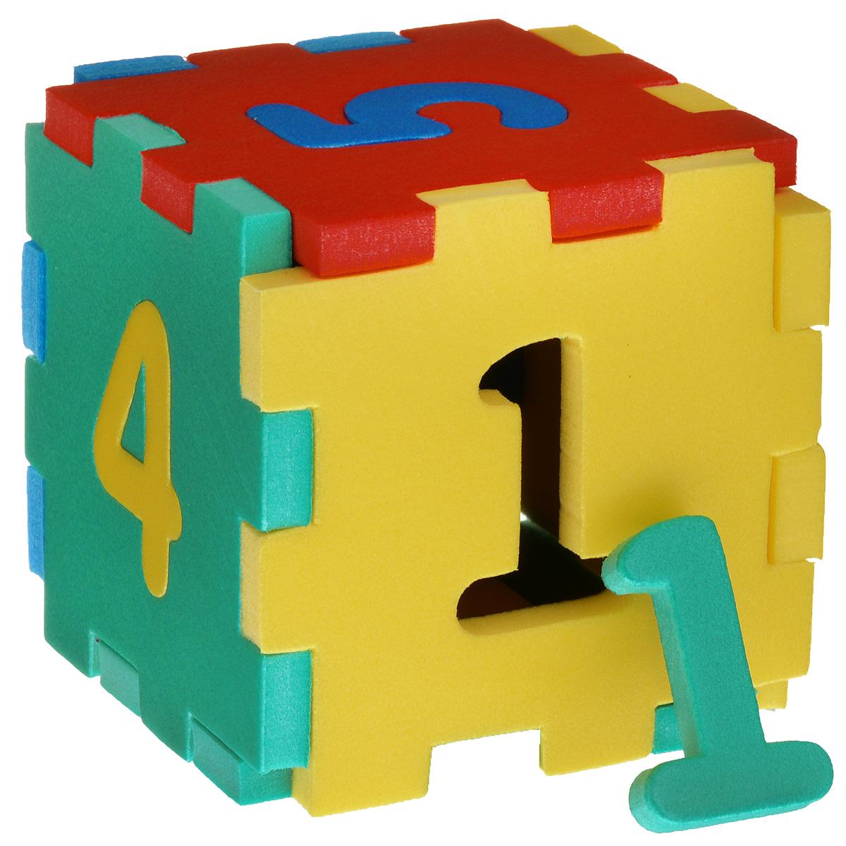 Флексика Мягкий конструктор Кубик с цифрами