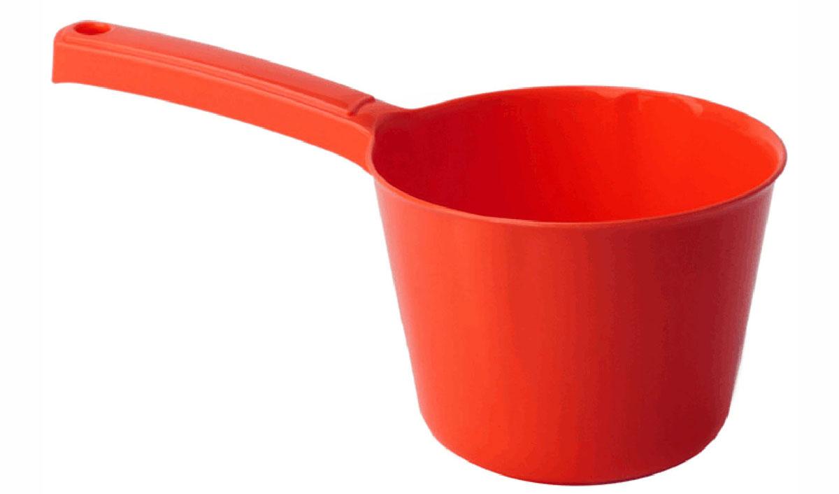 Ковш Idea, цвет: красный, 1 л391602Ковш Idea изготовлен из высококачественного цветного пластика. Изделие используется для моечных и обливных процедур, для черпания и переливания воды и других жидкостей. Ковш оснащен удобной эргономичной ручкой с петелькой для подвешивания на крючок. Диаметр ковша (по верхнему краю): 13,5 см.Высота стенки ковша: 10 см.Длина ручки: 12 см.