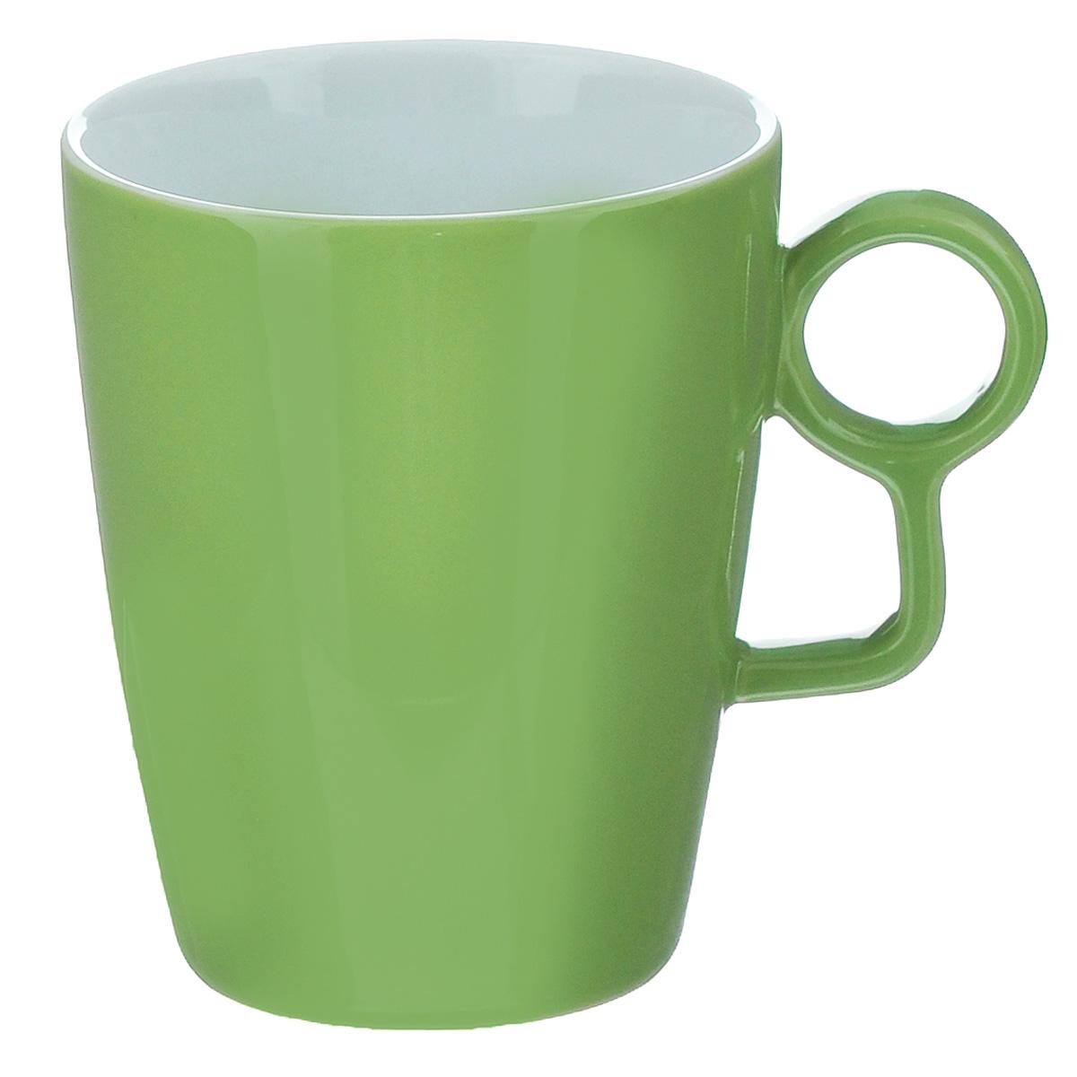 Кружка Sagaform Loop, цвет: зеленый, 250 мл115510Кружка Sagaform выполнена из высококачественной керамики. Изделие оснащено удобной ручкой. Кружка сочетает в себе оригинальный дизайн и функциональность. Благодаря такой кружке пить напитки будет еще вкуснее. Кружка Sagaform согреет вас долгими холодными вечерами. Можно использовать в посудомоечной машине.Объем: 250 мл.Диаметр (по верхнему краю): 7,5 см.Высота кружки: 10 см.