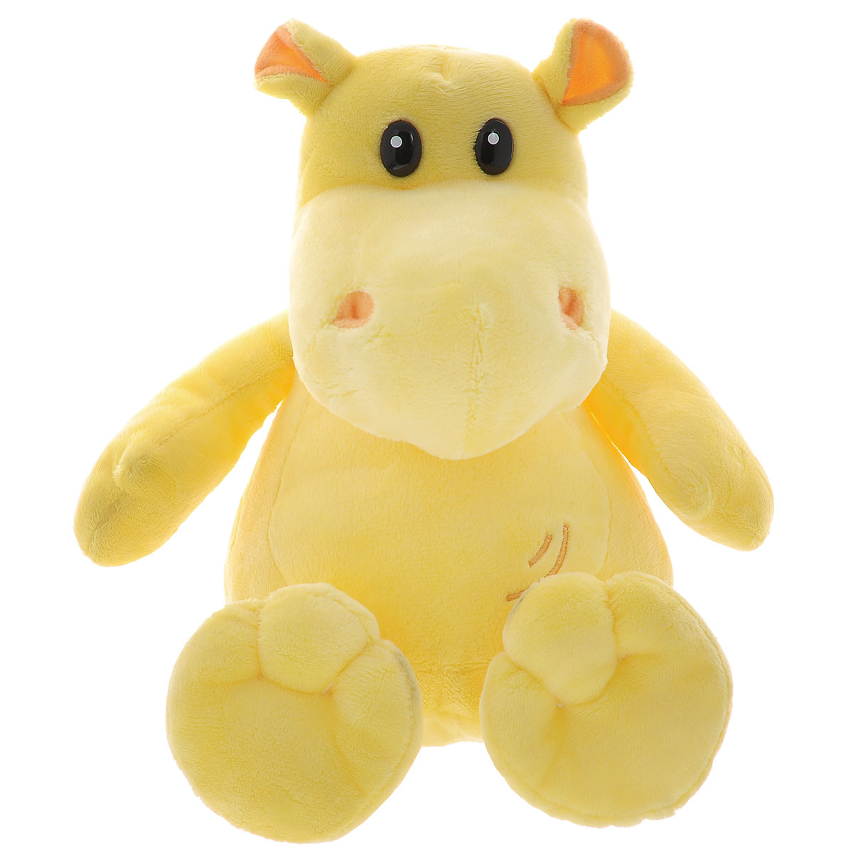 Мягкая игрушка Plush Apple Бегемот, цвет: желтый, 27 см plush apple 27