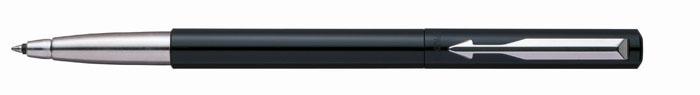Роллер VECTOR Black. PARKER-S01600902010440Ручка-роллер Паркер Вектор Стандарт Блэк. Инструмент для письма, линия письма - средняя, чернила синего цвета, в подарочной упаковке.Произведено во Франции.