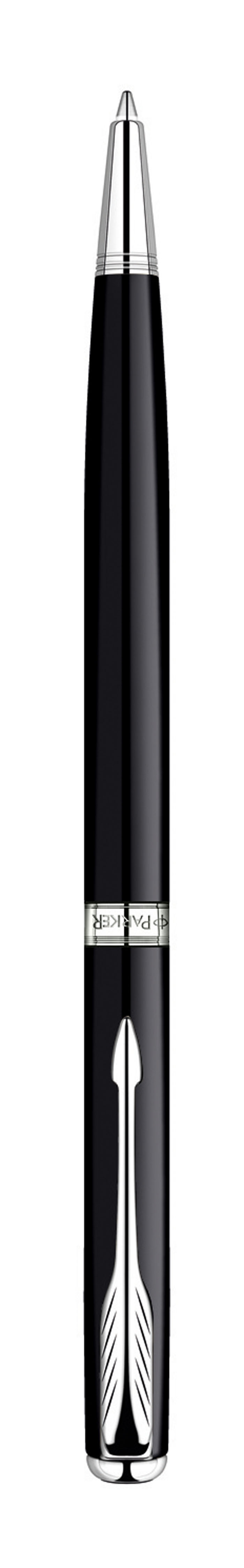Ручка шариковая Sonnet SLIM Black Laque CT. PARKER-S080884072523WDШариковая ручка Паркер Сонет Слим Блэк Си Ти . Инструмент для письма, линия письма - средняя, цвет чернил черный, в подарочной упаковке. Произведено во Франции.