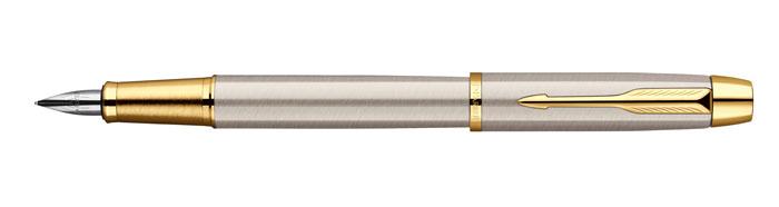Ручка перьевая Паркер Ай Эм Брашед Метал Джи Ти. Инструмент для письма, линия письма – тонкая, в подарочной упаковке. Произведено в Китае.