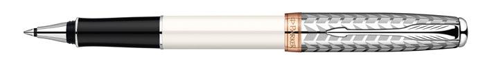 Роллер Sonnet Metal & Pearl CT. PARKER-S094733072523WDРучка-роллер «Паркер Соннет Метал анд Перл Си Ти». Инструмент для письма, линия письма –тонкая, цвет чернил – черный, в подарочной упаковке. Произведено во Франции.