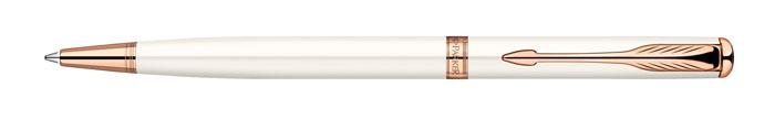 Ручка шариковая Sonnet SLIM Pearl Lacquer PGT. PARKER-S094740072523WDРучка шариковая «Паркер Соннет Слим Перл Лак Пи Джи Ти». Инструмент для письма, линия письма – средняя, цвет чернил – черный, в подарочной упаковке. Произведено во Франции.
