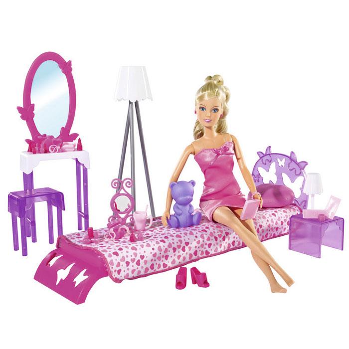Simba Игровой набор с кулой Штеффи в спальной комнате simba игровой набор с куклой штеффи water styles fashion