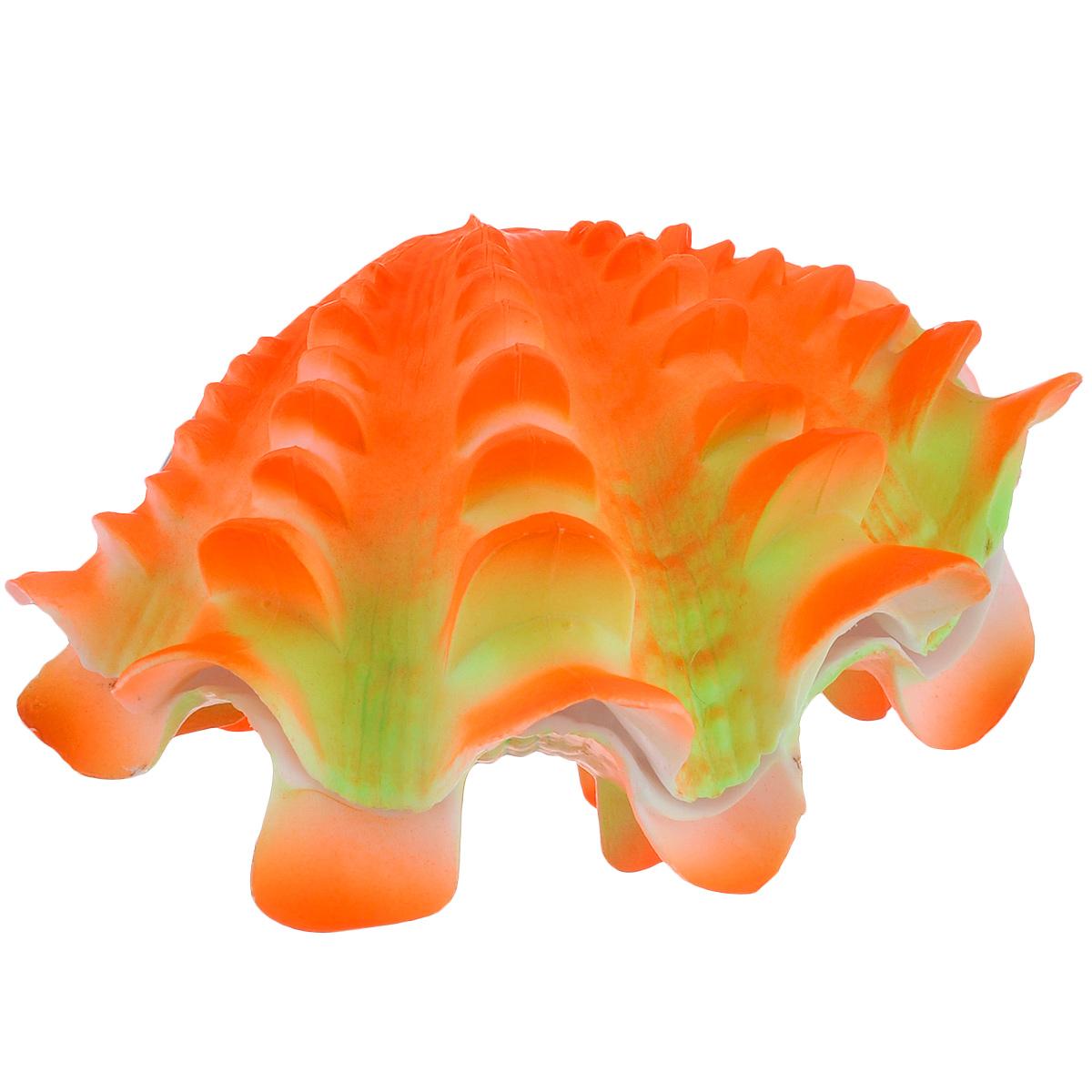 Распылитель декоративный Penn-Plax Жемчужница, цвет: ярко-оранжевый0120710Декоративный распылитель Penn-Plax Жемчужница выполнен из высококачественного прочного пластика. Вместе с основной функцией распыления воздуха, изделие является эффектным элементом декорирования аквариума.