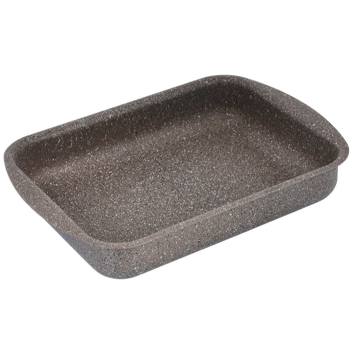 Противень TimA Art Granit, с антипригарным покрытием, прямоугольный, 31 см х 23 см х 6 см420585Прямоугольный противень TimA Art Granit изготовлен из алюминия с антипригарным покрытием. Пятислойное сверхпрочное антипригарное покрытие нового поколения серии Art Granit состоит из нескольких слоев каменной крошки с высоким содержанием минералов. Это обеспечивает максимальный антипригарный эффект для приготовления блюд любой сложности и устойчивость к царапинам и истиранию. Возможно использование металлических столовых приборов.Утолщенное дно способствует равномерному распределению и сохранению тепла, что позволяет доводить блюдо до готовности без источника тепла. Посуда не боится перегрева, не выделяет опасных компонентов даже при высоких температурах. Покрытие абсолютно экологично, не содержит PFOA, примесей кадмия и свинца. Легко моется. Подходит для духового шкафа. Можно мыть в посудомоечной машине. Внутренний размер противня: 31 см х 23 см. Размер противня (с учетом ручек): 36 см х 25 см. Высота стенки: 6 см.
