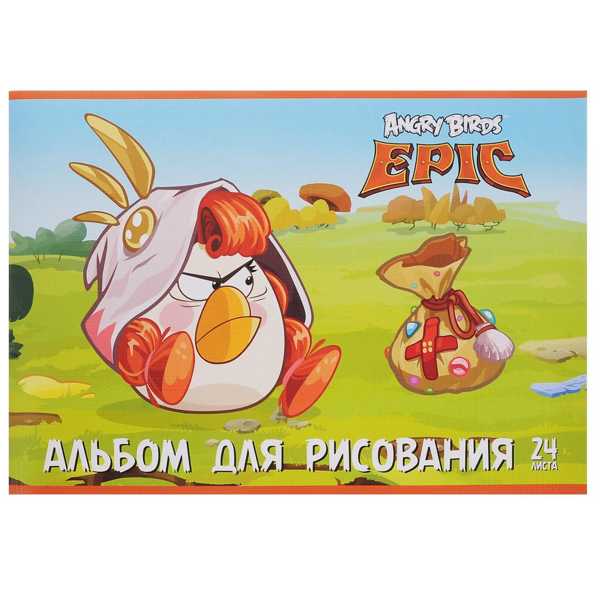 Альбом для рисования Angry Birds Epic Медик, 24 листа37211Альбом для рисования Angry Birds с ярким изображением любимого мультипликационного героя на обложке будет радовать и вдохновлять юных художников на творческий процесс. Бумага альбома отличается высокой прочностью. Обложка выполнена из картона с тиснением. Крепление - скрепки. Рисование позволяет развивать творческие способности, кроме того, это увлекательный досуг.Рекомендуемый возраст: 6+.