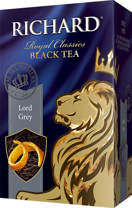 Richard Lord Grey черный листовой чай, 90 г0120710Richard Lord Grey - листовой черный цейлонский чай с ароматом бергамота и лимона, который подарит вам классический вкус и аромат каждое утро.