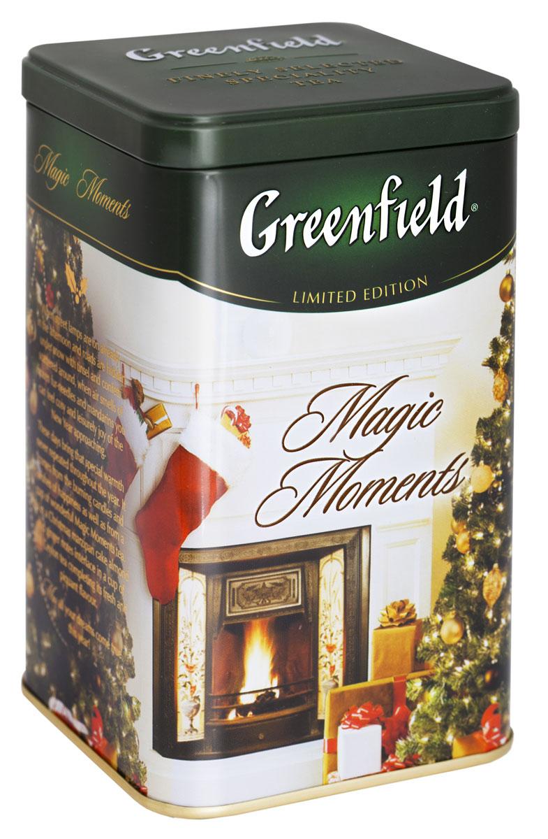 Greenfield Magic Moments черный листовой чай, 150 г (железная банка)1078-12В Greenfield Magic Moments как в рождественском пироге, причудливо переплетаются миндально-имбирные оттенки, дополняя свежий и пряный аромат цейлонского чая. Идеален для гурманов, стремящихся открывать новые грани вкуса.