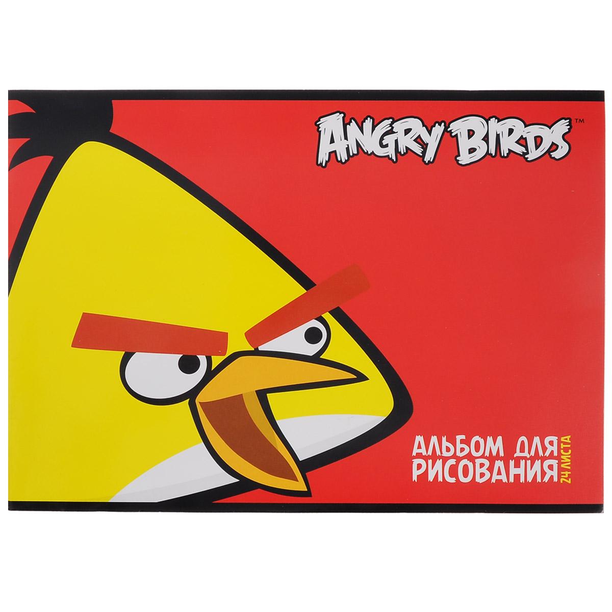 Альбом для рисования Angry Birds, 24 листа. 24А4вмB_1035272523WDАльбом для рисования Angry Birds с ярким изображением любимого мультипликационного героя на обложке будет радовать и вдохновлять юных художников на творческий процесс. Бумага альбома отличается высокой прочностью. Обложка выполнена из мелованного картона. Крепление - скрепки. Рисование позволяет развивать творческие способности, кроме того, это увлекательный досуг.Рекомендуемый возраст: 6+.