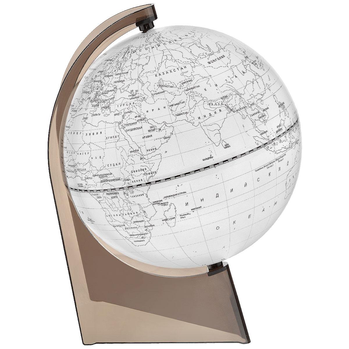 Глобусный мир Глобус Земли, контурный, диаметр 21 смFS-00897Глобус Земли Глобусный мир, изготовленный из высококачественного прочного пластика.Контурный глобус - это отличная возможность для ребенка проверить свои знания по географии, в том числе политической. Карта выполнена в виде контуров материков с названиями государств и их столиц, океанов и островов. Его можно использовать в игровой форме. С помощью этого глобуса можно тренировать память. Изделие расположено на треугольной подставке. Названия стран на глобусе приведены на русской язык. Настольный контурный глобус Земли Глобусный мир станет оригинальным украшением рабочего стола или вашего кабинета. Это изысканная вещь станет прекрасным подарком для современного преуспевающего человека, следующего последним тенденциям моды и стремящегося к элегантности и комфорту в каждой детали.Масштаб: 1:60 000 000.