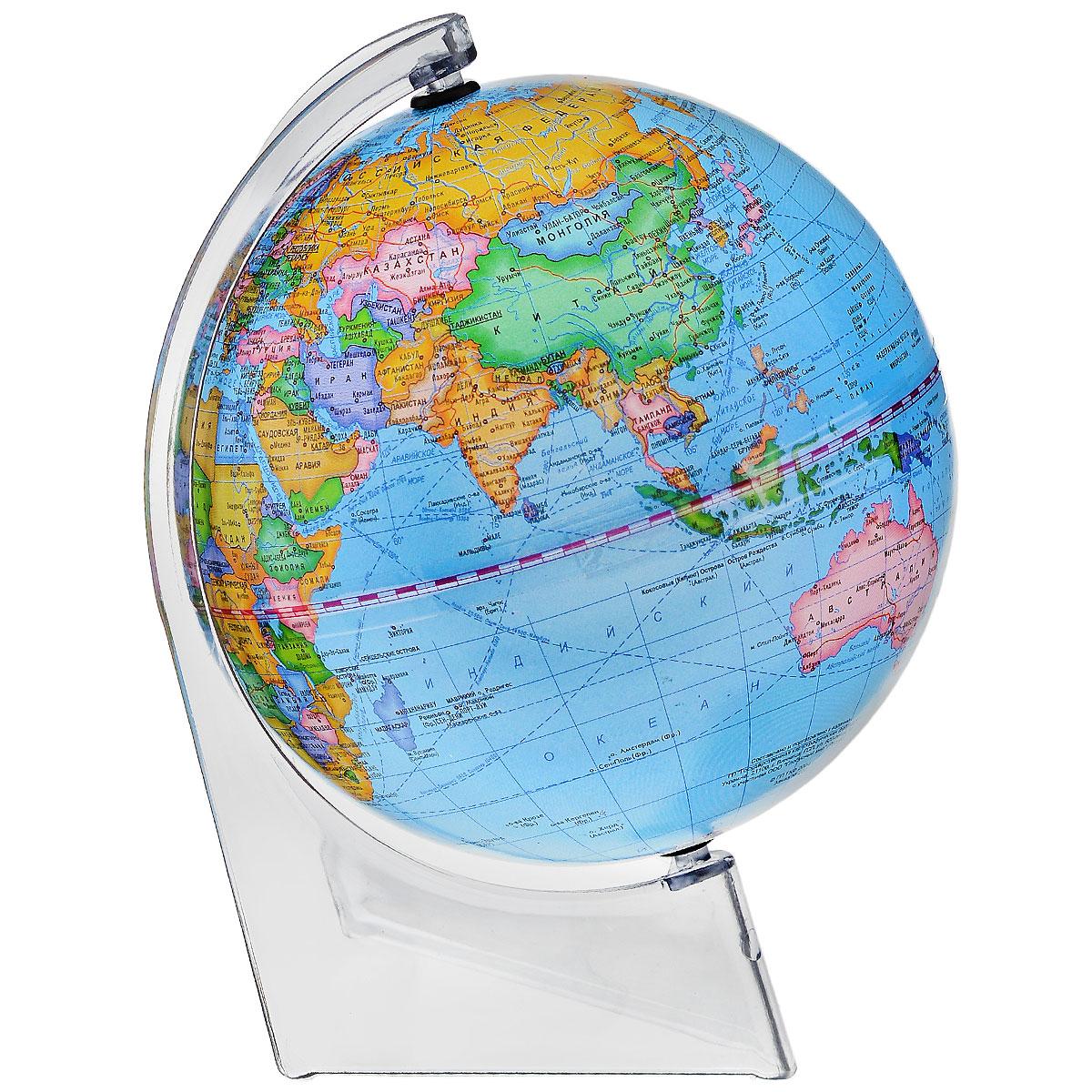 Глобусный мир Глобус с политической картой мира, диаметр 15 см