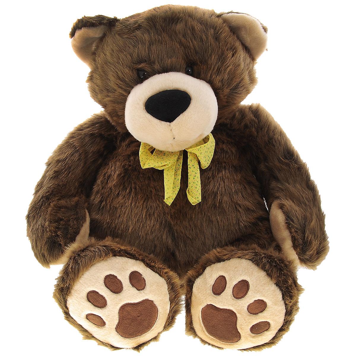 Мягкая игрушка Plush Apple Медведь, цвет: коричневый, 75 см мягкая игрушка plush apple собака с шарфом 28 см