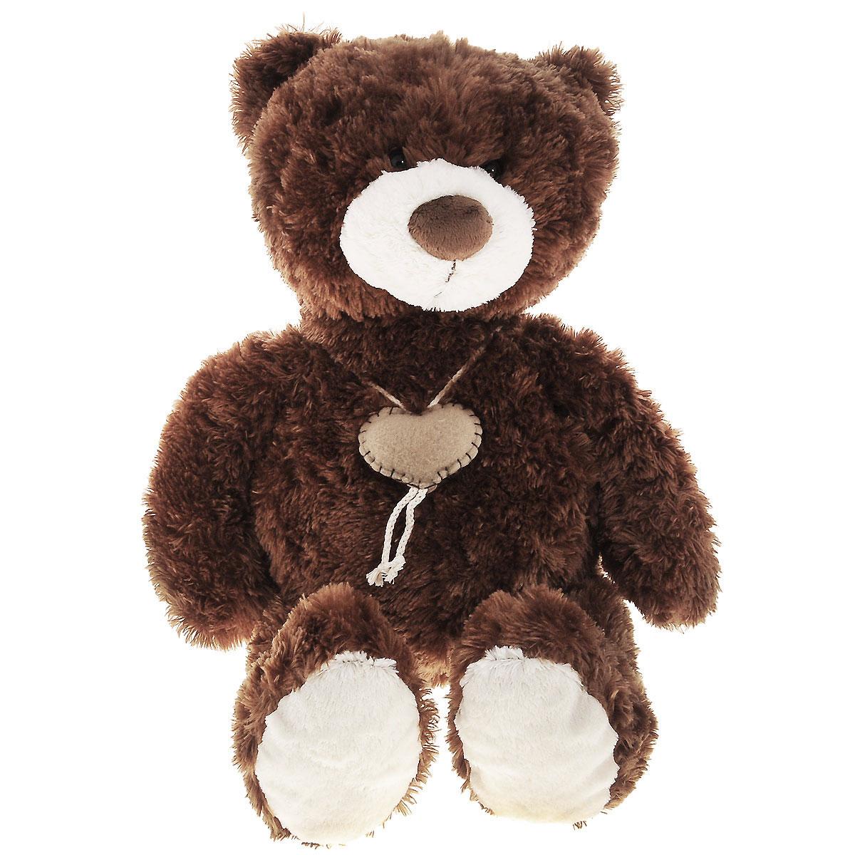 Мягкая игрушка Plush Apple Медведь с сердцем, 70 см мягкая игрушка plush apple собака с шарфом 28 см
