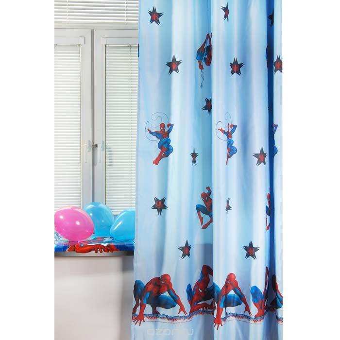 Портьера TAC Spider-Man, на ленте, цвет: голубой, высота 265 смK100Роскошная портьера TAC Spider-Man выполнена из полиэстера. Полиэстер - вид ткани, состоящий из полиэфирных волокон. Ткани из полиэстера - легкие, прочные и износостойкие. Такие изделия не требуют специального ухода, не пылятся и почти не мнутся.Портьера имеет дизайн в виде человека-паука из мультфильма Spider-Man. Осуществите заветную мечту ребенка окунуться в волшебный мир сказок, а любимые персонажи создадут атмосферу уюта для вашего малыша. Детская портьера эффектно дополнит стиль комнаты с любимыми героями, а также создаст неповторимую атмосферу гармонии.Эта портьера будет долгое время радовать вас и вашу семью!Портьера крепится на карниз при помощи шторной ленты, которая поможет красиво и равномерно задрапировать верх.
