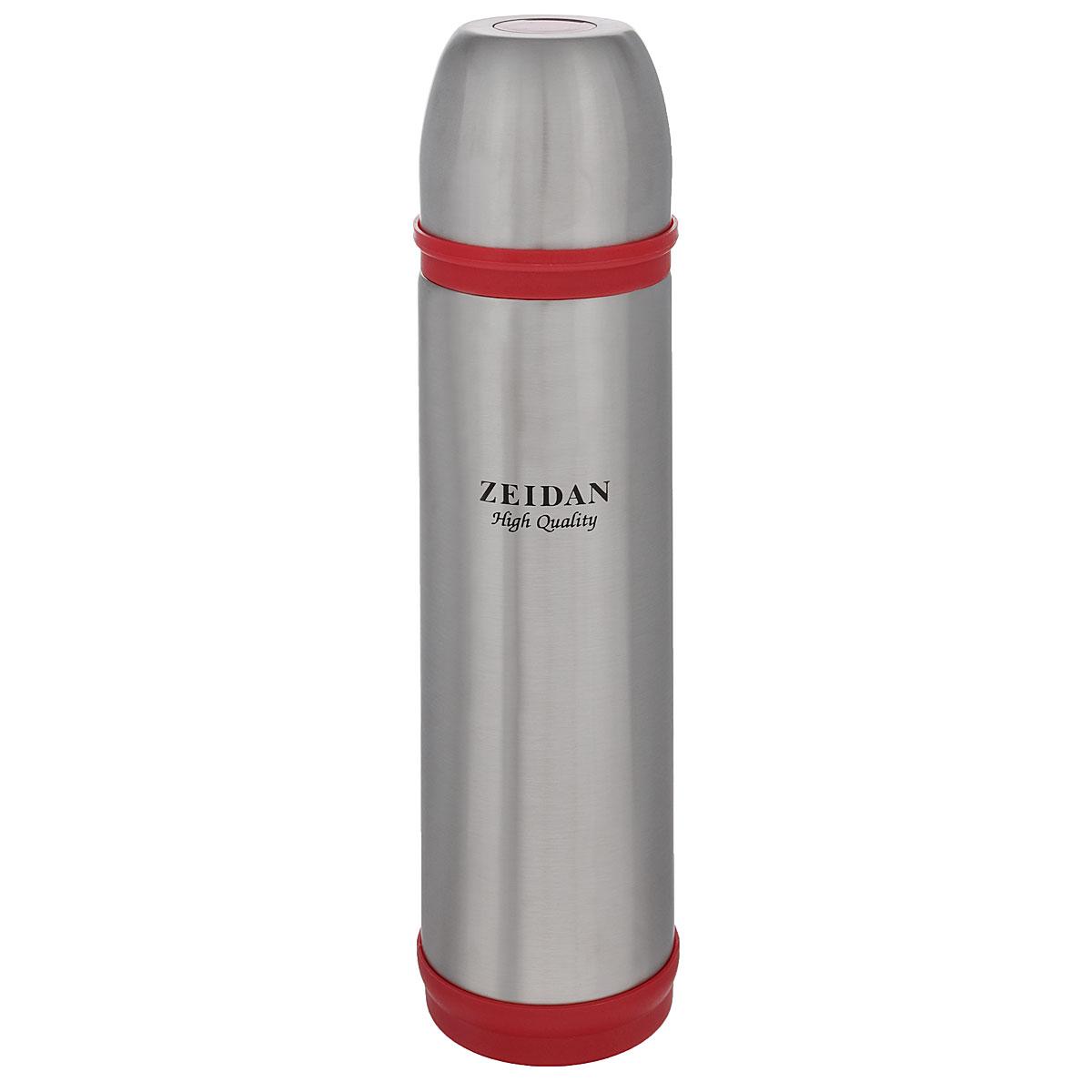Термос Zeidan, цвет: красный, серебристый, 750 млVT-1520(SR)Термос с узким горлом Zeidan, изготовленный из высококачественной нержавеющей стали, является простым в использовании, экономичным и многофункциональным. Термос с двухстеночной вакуумной изоляцией предназначен для хранения горячих и холодных напитков (чая, кофе). Изделие укомплектовано пробкой с кнопкой. Такая пробка удобна в использовании и позволяет, не отвинчивая ее, наливать напитки после простого нажатия. Изделие также оснащено крышкой-чашкой. Легкий и прочный термос Zeidan сохранит ваши напитки горячими или холодными надолго.Высота (с учетом крышки): 30 см.Диаметр горлышка: 4,5 см.