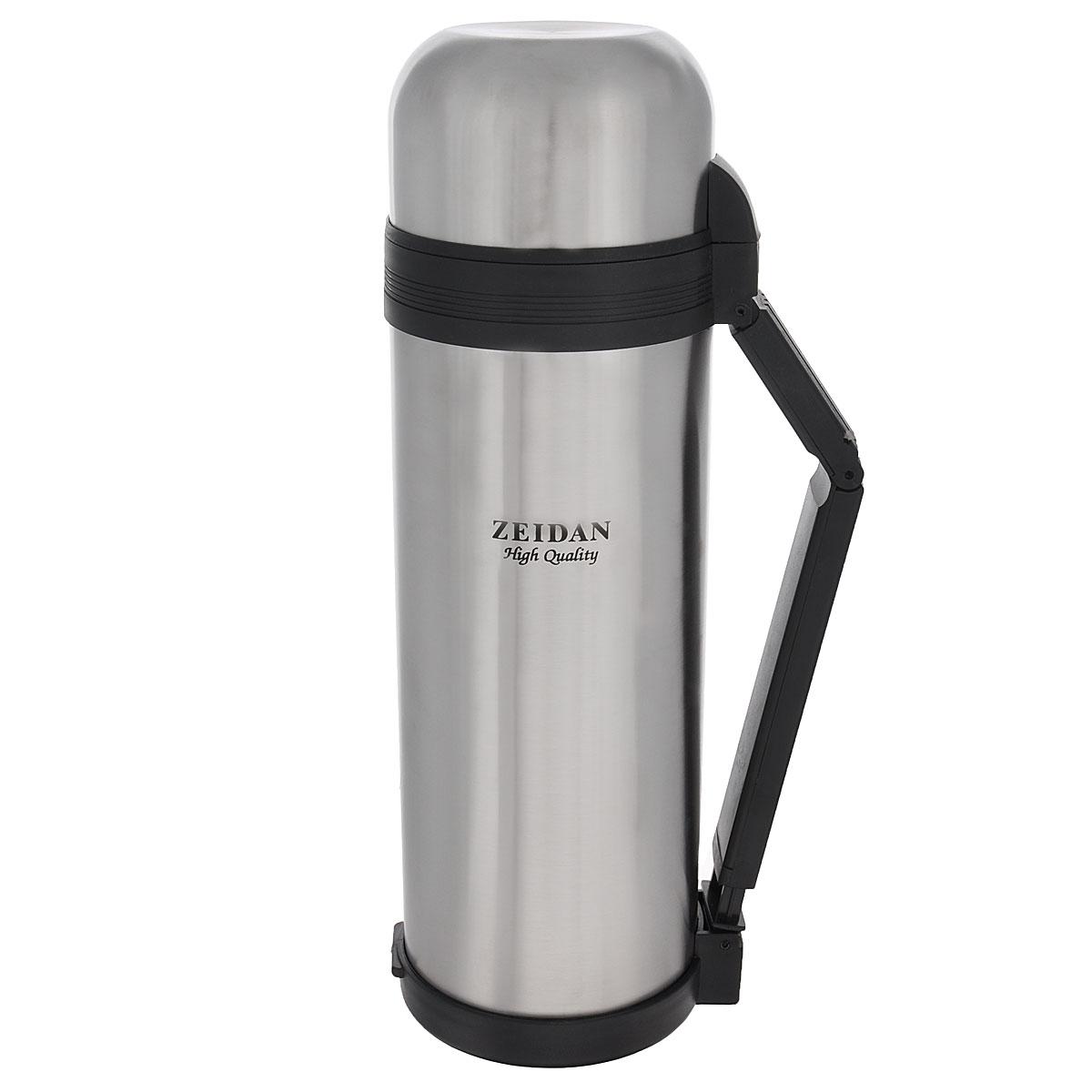 Термос Zeidan Aiden, 1,8 лBK-42Термос Zeidan Aiden, изготовленный из высококачественной нержавеющей стали, является простым в использовании, экономичным и многофункциональным. Термос с вакуумной изоляцией, предназначенный для хранения горячих и холодных напитков (чая, кофе). Изделие укомплектовано пробкой с кнопкой. Такая пробка удобна в использовании и позволяет, не отвинчивая ее, наливать напитки после простого нажатия. Изделие также оснащено крышкой-чашкой, дополнительной чашкой, складной ручкой и специальным ремнем для удобной переноски термоса. Легкий и прочный термос Zeidan Aiden сохранит ваши напитки горячими или холодными надолго.Высота (с учетом крышки): 33,5 см.Диаметр горлышка: 7,5 см.