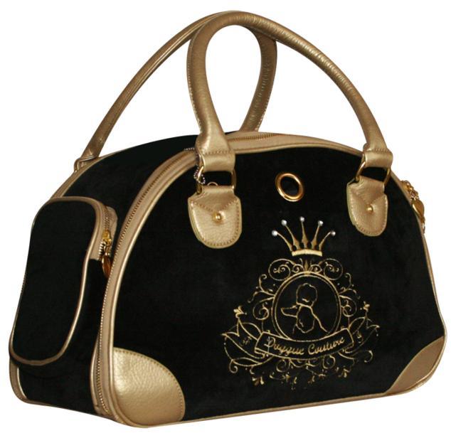 Сумка-переноска ALLEGRA GOLD0120710Сумка-переноска из черной ткани с вышивкой и стразами. Детали сумки из бежевого кожезаменителя. Окошко с сеткой, дополнительный карман на молнии. Внутри вшит поводок для крепления ошейника.