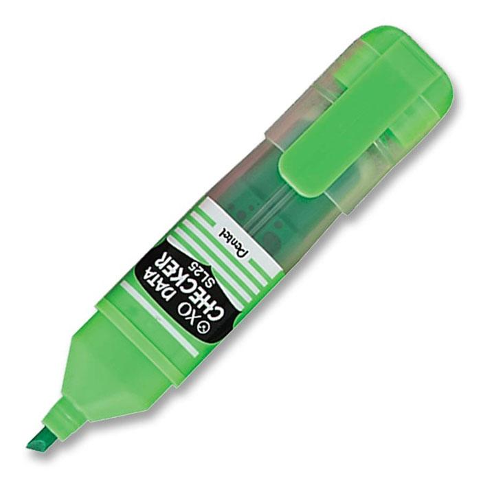 Pentel Маркер-выделитель Data Checker, цвет: салатовый730396Маркер-выделитель Data Checker со скошенным стержнем, выполненный из пластика, станет незаменимым аксессуаром в учебе или работе.Маркер содержит жидкие чернила, которые обеспечивают ровные и четкие линии. Диаметр стержня от 1 до 4,5 мм.