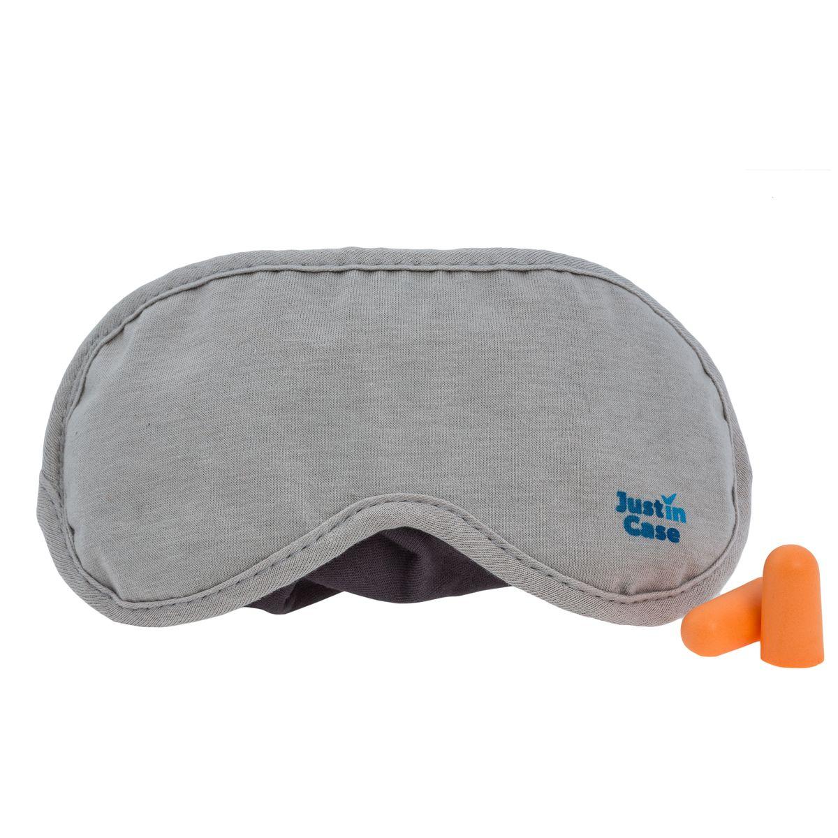 Маска для сна  JustinCase , с берушами, цвет: серый - Маски, наборы для сна
