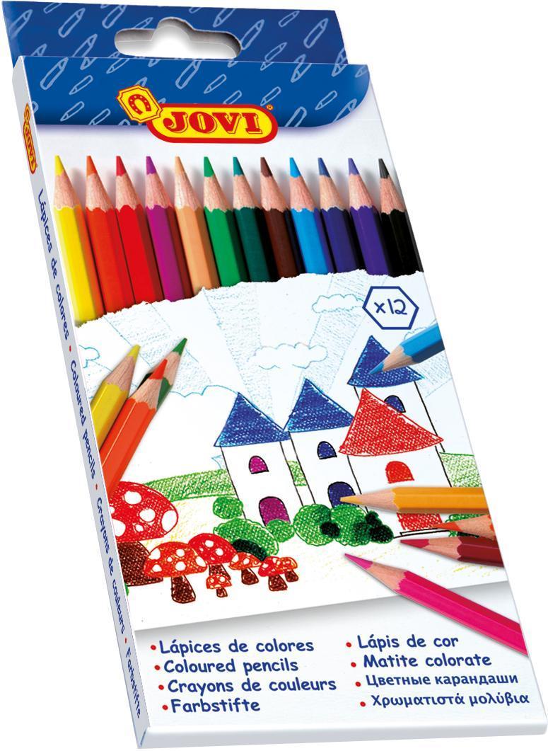 Карандаши 12цв., картонная упаковка с европодвесомC13S041944Карандаши Joviне крошатся, пишут на многих поверхностях (бумага, картон и т.д.). Специально разработаны для самых маленьких детей и отвечают всем требованиям качества и безопасности.