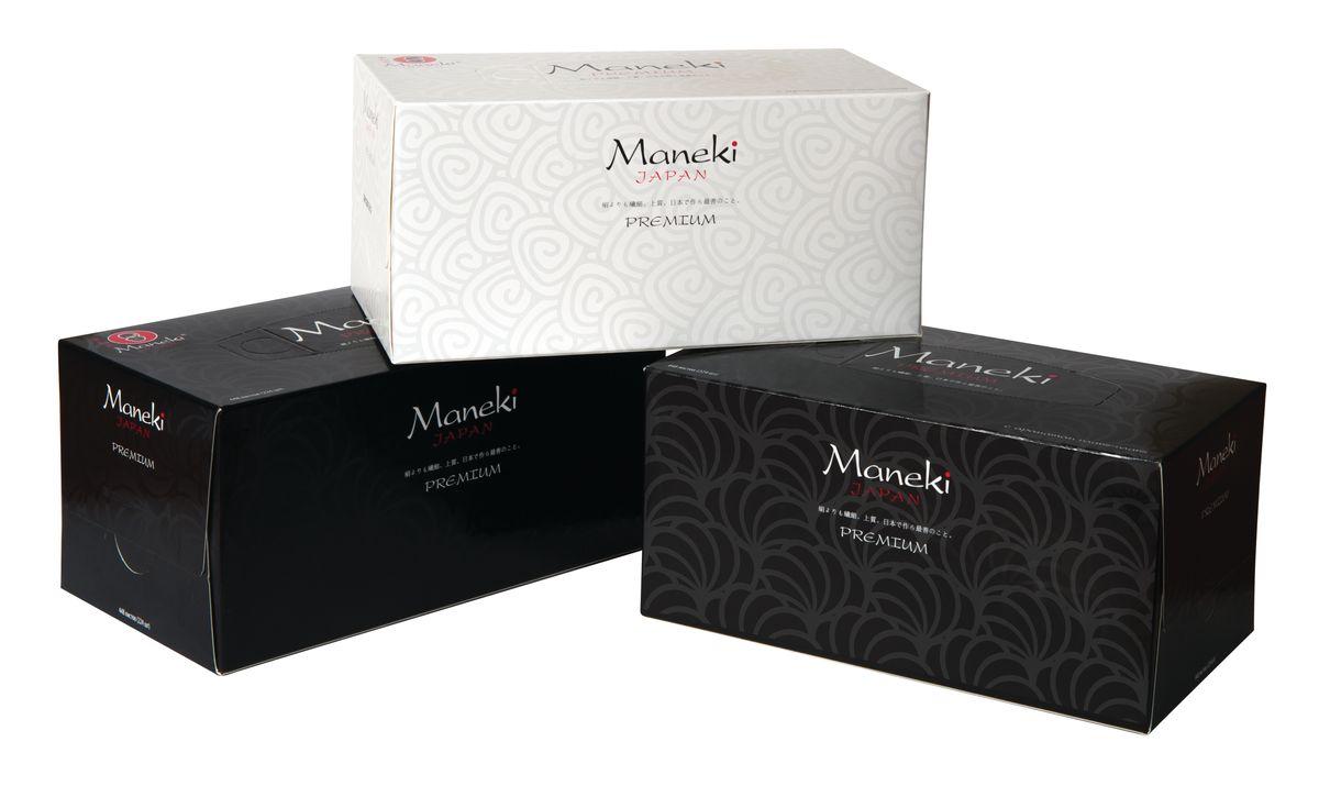 Салфетки бумажные Maneki Black & White, ароматизированные, двухслойные, цвет упаковки: черный, 19,5 x 19 см, 224 шт10684/5C TOONДвухслойные бумажные салфетки Maneki Black & White, выполненные из натуральной экологически чистой целлюлозы, подарят превосходный комфорт и ощущение чистоты и свежести. Изделия обладают приятным ароматом зеленого чая. Салфетки упакованы в коробку, поэтому их удобно использовать дома или взять с собой в офис или машину.Размер салфетки: 19,5 см х 19 см.