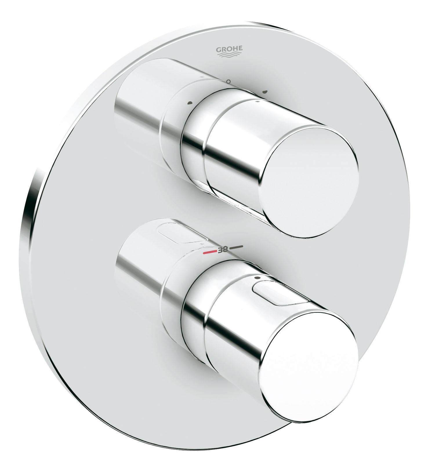 Термостатический смеситель для ванны GROHE Grohtherm 3000 Cosmopolitan (внешняя панель для арт. 35500000) (19468000)BL505Комплект верхней монтажной части для GROHE Rapido T 35 500 000Без встраиваемого механизмаGROHE StarLight хромированная поверхность Стопор безопасности при 38°CАквадиммер многофункциональный:Затвор воды и регулятор расходаПереключатель на 2 положенияС настенными розетками GROHE QuickFix ( скрытые эксцентрики, уплотнение, скрытый монтаж)