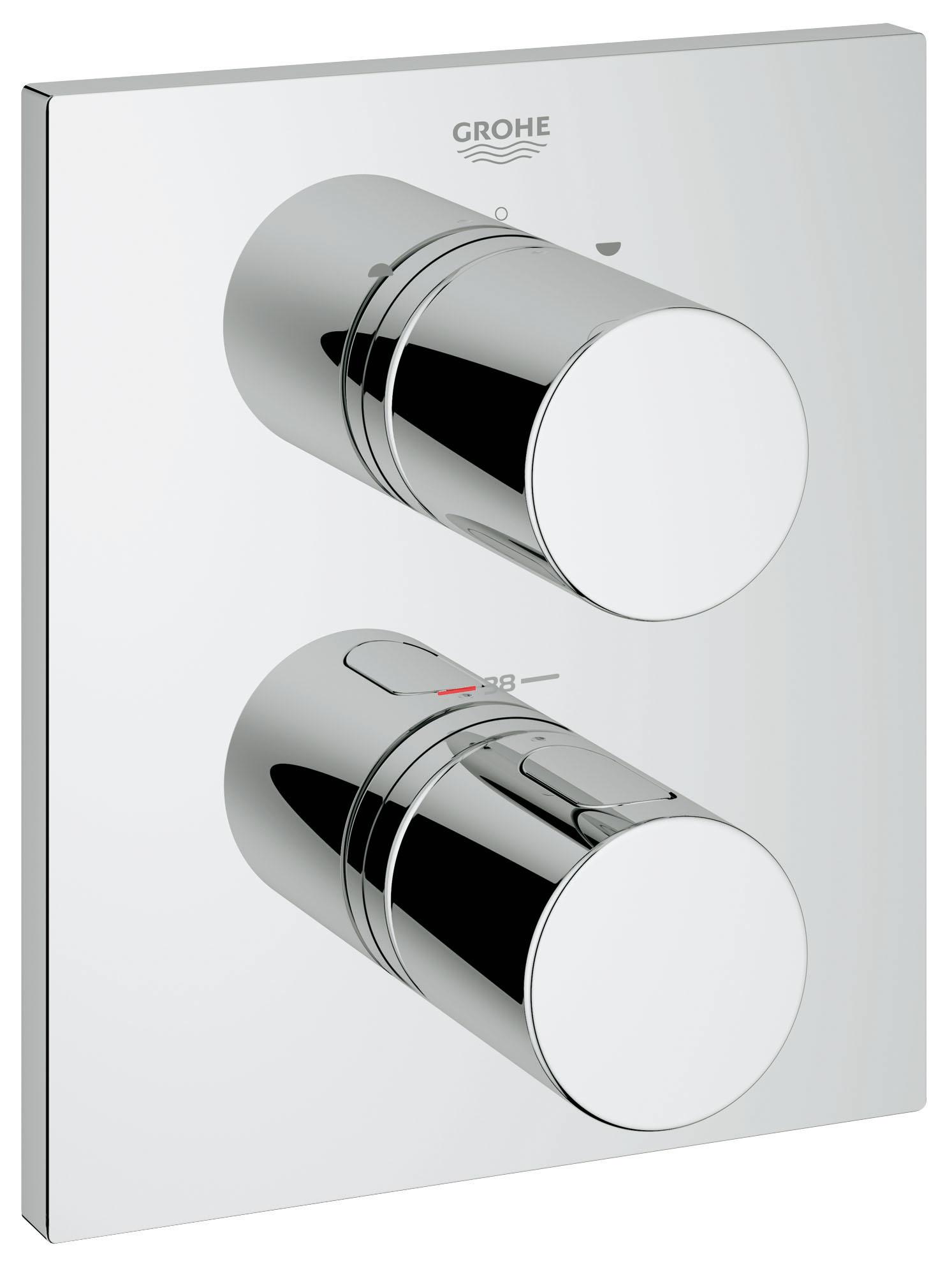 Термостатический смеситель для ванны GROHE Grohtherm 3000 Cosmopolitan (внешняя панель для арт. 35500000) (19567000)  grohe grohtherm 3000 cosmopolitan 19567000 для ванны с душем