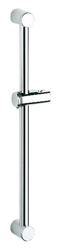 Душевая штанга Grohe Relexa3520Душевая штанга Grohe Relexa выполнена из высококачественного металла с хромированной поверхностью StarLight. Оснащена настенными креплениями и поворотным держателем с фиксацией по высоте. Угол наклона штанги можно изменить при помощи растрового механизма. Высота регулируется при помощи винта.Диаметр: 28 мм.Длина штанги: 600 мм.