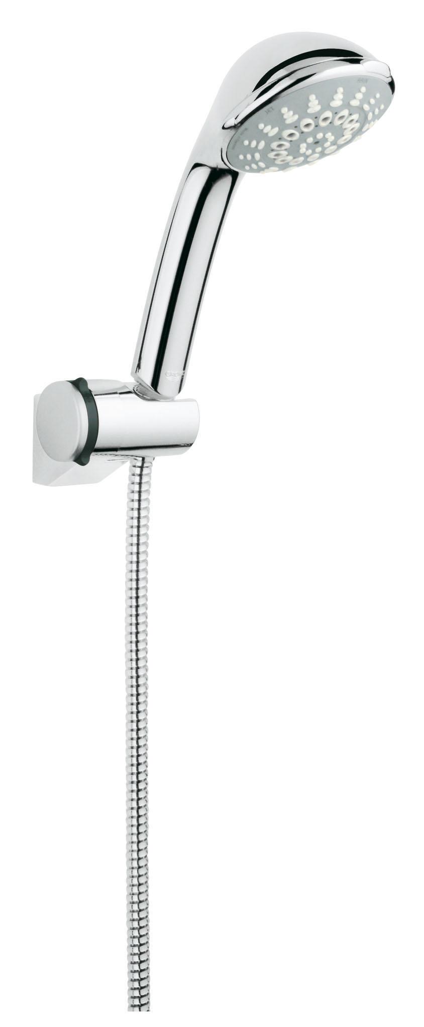Душевой комплект GROHE Relexa (28843000)20021Включает в себя: Настенный держатель душа (28 623) Ручной душ Relexa 100 Champagne (28 794) Душевой шланг, 1.750 мм (28 410 000) Twistfree против перекручивания шланга GROHE DreamSpray превосходный поток воды С системой SpeedClean против известковых отложений Внутренний охлаждающий канал для продолжительного срока службы GROHE StarLight хромированная поверхность Видео по установке является исключительно информационным. Установка должна проводиться профессионалами!