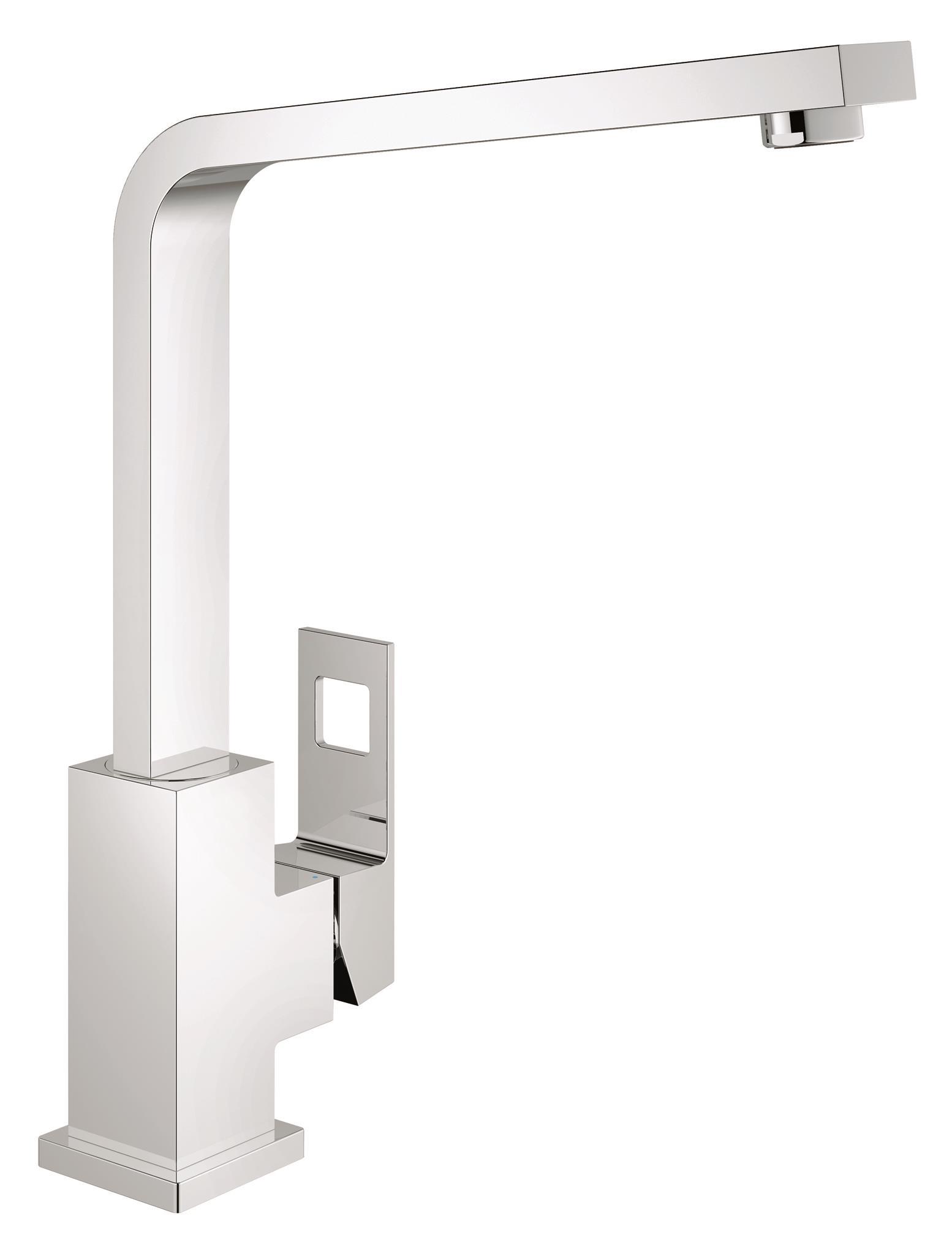 Смеситель для кухни GROHE Eurocube (31255000)68/5/2GROHE Eurocube: смеситель для кухни с непревзойденными технологиями, облаченными в эффектное дизайнерское решение Этот кухонный смеситель GROHE Eurocube с лаконичным дизайном, основанным на прямых линиях и квадратных формах, придаст интерьеру Вашей кухни особую выразительность. Благодаря износостойкому глянцевому хромированному покрытию GROHE StarLight, он всегда будет хранить свой безупречный первозданный вид. Эффектный и одновременно с этим практичный высокий излив поможет Вам с легкостью наполнять и ополаскивать высокие емкости. Возможность вращения излива в радиусе 360° обеспечивает максимально возможное удобство при работе на кухне. Технология GROHE SilkMove, которая применяется в конструкции картриджа, гарантирует плавность и легкость регулировки температуры и напора воды. Наша фирменная система упрощенного монтажа позволит выполнить установку этого смесителя для мойки быстро и без затруднений. Перед Вами – совершенный во всех отношениях смеситель кубических форм.Особенности:Высокий излив Монтаж на одно отверстие GROHE SilkMove керамический картридж 28 мм GROHE StarLight хромированная поверхностьПоворотный литой излив Радиус поворота 360° Аэратор Гибкая подводка Система быстрого монтажаВидео по установке является исключительно информационным. Установка должна проводиться профессионалами!