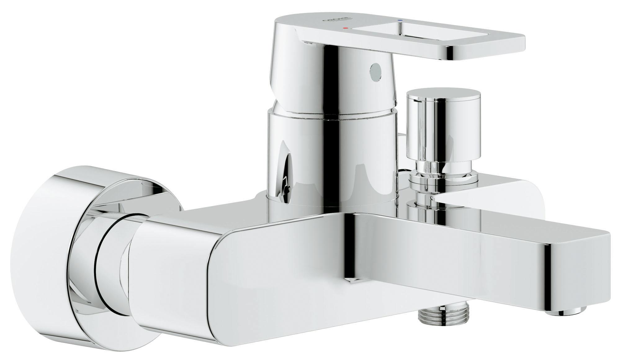 Смеситель для ванны GROHE Quadra (32638000)68/5/1Настенный монтаж GROHE SilkMove керамический картридж O 46 мм GROHE StarLight хромированная поверхностьРегулировка расхода воды Автоматический переключатель: ванна/душ Аэратор Отвод для душа снизу 1/2? со встроенным обратным клапаном Скрытые S-образные эксцентрики С защитой от обратного потокаВидео по установке является исключительно информационным. Установка должна проводиться профессионалами! хром.