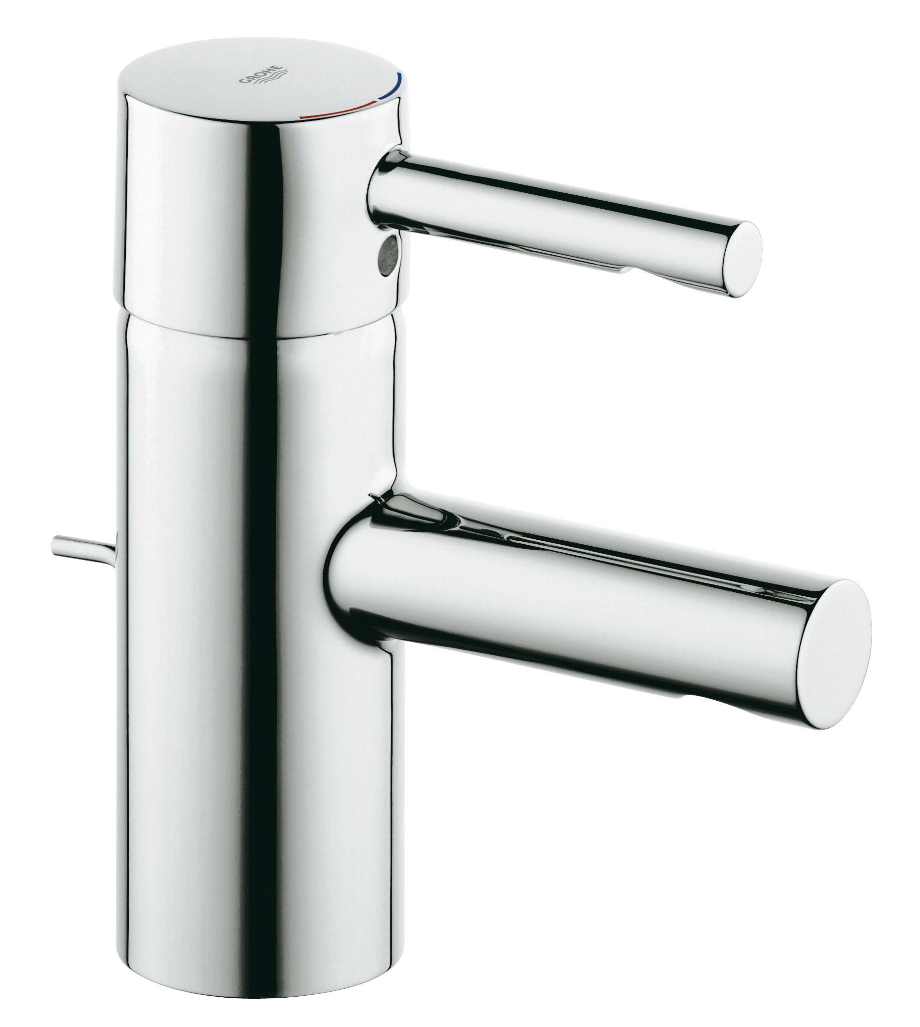 Смеситель для раковины GROHE Essence с донным клапаном (33562000)68/5/3GROHE Essence: смеситель для ванной комнаты с неизменно актуальным дизайном и глянцевым покрытием Элегантный и гармоничный дизайн, основанный на цилиндрических формах, – отличительный признак серии GROHE Essence. Данный смеситель для ванной комнаты обеспечен множеством полезных функций, дополняющих его привлекательный внешний вид: к примеру, технология GROHE SilkMove обеспечивает плавность регулировки напора и температуры воды, а встроенный подъемный шток позволяет легко открывать и закрывать сливной клапан. Хромированное покрытие GROHE StarLight обеспечивает смесителю неприхотливость в уходе, а также сохранение ослепительного блеска на многие годы. Благодаря всем этим преимуществам, а также быстроте установки за счет системы упрощенного монтажа, данный однорычажный смеситель представляет собой идеальный выбор во всех отношениях.Особенности:Монтаж на одно отверстие GROHE SilkMove керамический картридж 35 мм Регулировка расхода воды Встроенный аэратор Гибкая подводка Сливной гарнитур 1 1/4? Система быстрого монтажа Скрытое крепление рычага GROHE StarLight хромированная поверхностьДополнительный ограничитель температуры (46 375 000) Видео по установке является исключительно информационным. Установка должна проводиться профессионалами!