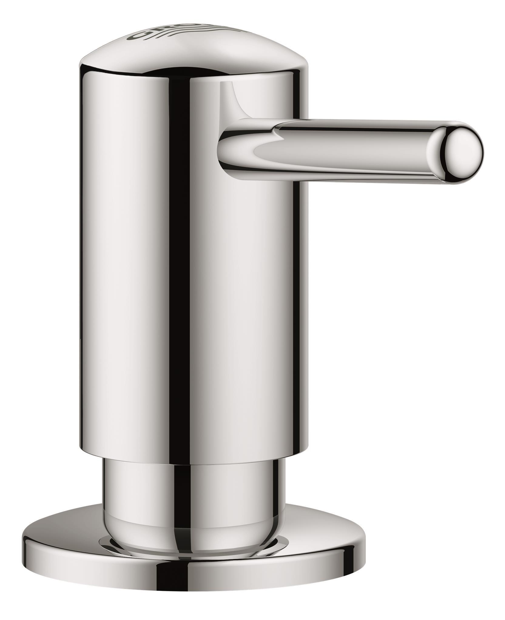 Дозатор жидкого мыла Grohe ContemporaryRG-D31SДля жидкого мыла,Запасная емкость 0,4 лGROHE StarLight хромированная поверхность